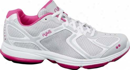 Ryka Devotion (women's) - White/vapor Grey/steel Grey/zuma Pink