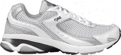 Ryka Radiant (women's) - White/chrome Silver/black