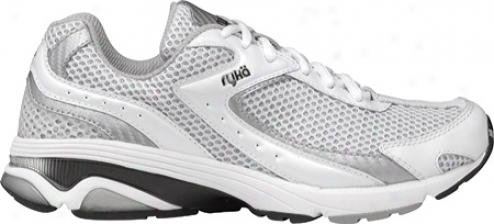 Ryka Radiant (women's) - White/chrome Silver/black