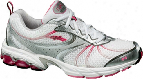 Ryka Revive 2 (women's) - Chrome Silver/whife/metallic Steel Grey/pink Flash