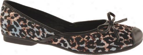 Sam & Libby Zees (women's) - Blue/pewter/painted Cheetah Fabric