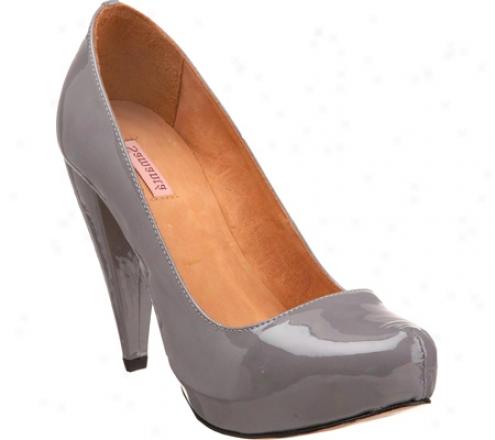 Samanta Viv Pump (women's) - Grey Open Leather