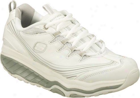 Skechers Shape Ups Movement Pursui5 (women's) - White/silver