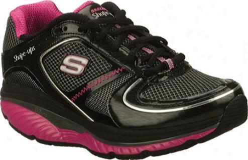 Skechers Shape Ups S2 Lite (women's) - Blwck/oht Pink