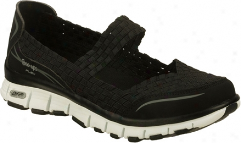 Skechers Tone Ups Flex Stellar (women's) - Black/white