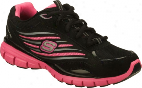 Skechers Tone Ups Run Elevate (women's) - Black/pink