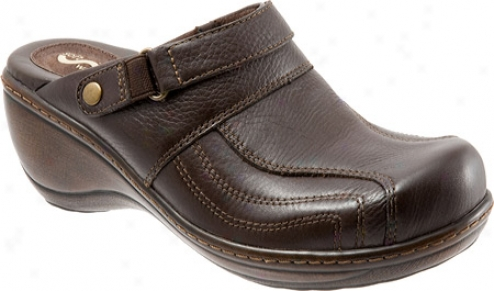 Softwalk Macy (women's) - Dark Brown Soft Tumbled Leather