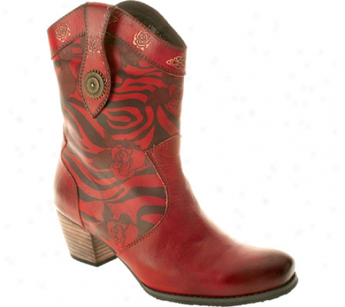 Spring Step Billie (women's) - Red Leather