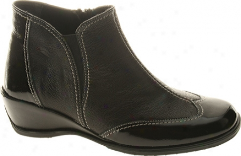 Spring Step Coty (women's) - Black Patent/combo Leather