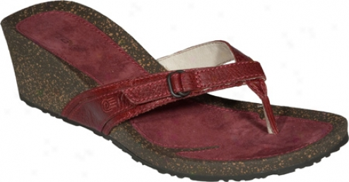 Teva Ventura Thong Wedge Leather (women's) - Rouge Action