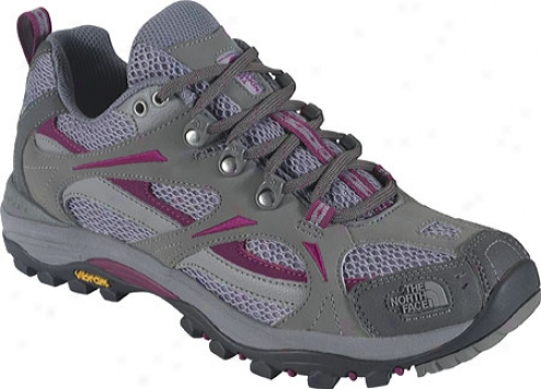 The North Fafe Hedgehog Iii (women's) - Moon Mist Grey/berry Lacquer Purple