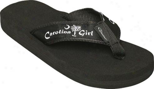 Tidewater Sandals Carolina Girl (women's) - Black/white