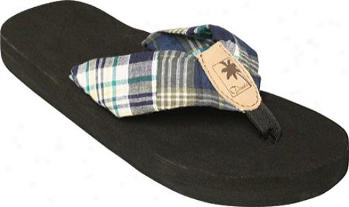 Tidewater Sandals Kiely Madras (women's) - Black/white/green