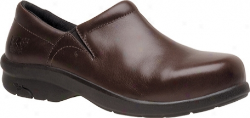 Timberland Newbury Esd Slip-on Alloy Safety Toe (women's) - Brown Full Grain Leather
