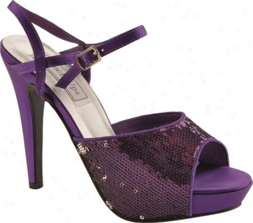 Touch Ups Bev (women's) - Purple Sequins Fabric