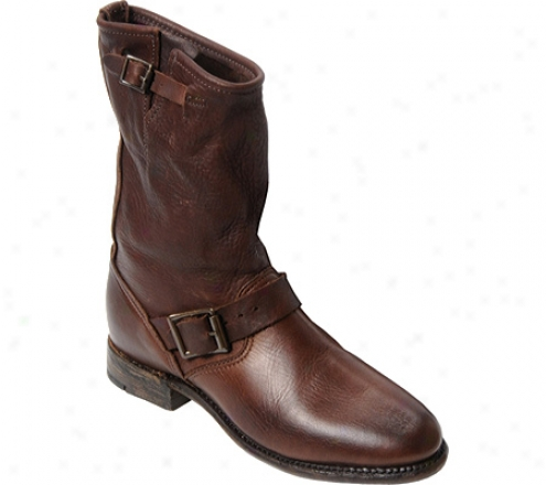 """vintage Shoe Company 10"""" Pull-on Engineer Boot 2200"""" (women's) - Brown Leather"""