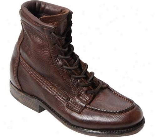"""""""vintage Shoe Company 6"""""""" Moc-toe Lace-up Ankle Profit 2300"""""""" (women's) - Brown Leather"""""""