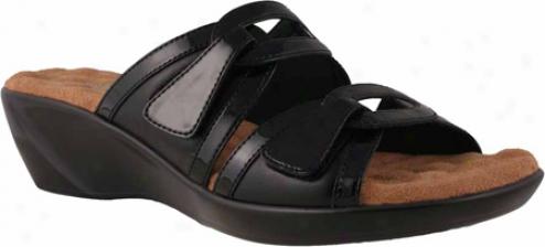 Walking Cradles Ali (women's) - Black Leather/patent