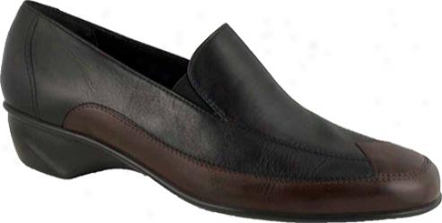 Walking Cradles Tea (women's) - Black Leather/tobacco Leather
