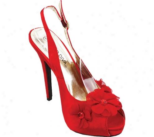 Wild Diva Adriane-05 (women's) - Red Satin