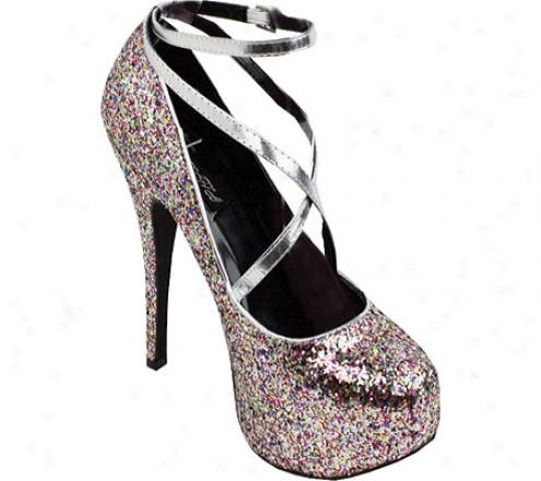 Wild Diva Lollipop-23 (women's) - Silver Glitter