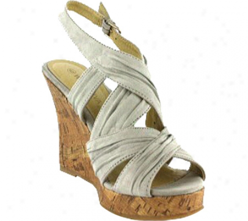Wild Diva Mirna-114 (women's) - Light Grey Suede