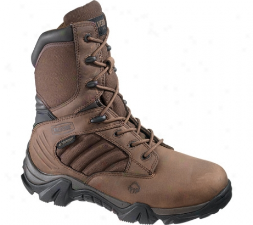 """wolverine Cougar Insulated Waterproof Boot 8"""" (women'a) - Brown/real Brown"""