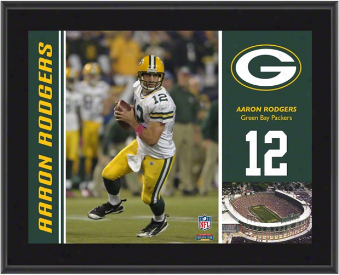 Aadon Rodgers Plaque Details: Green Bay-tree Packers, Sublimated, 10x13, Nfl Plaque