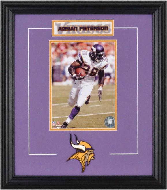 Adrian Peterson Framed 6x8 Photograph Attending Team Logo & Plate