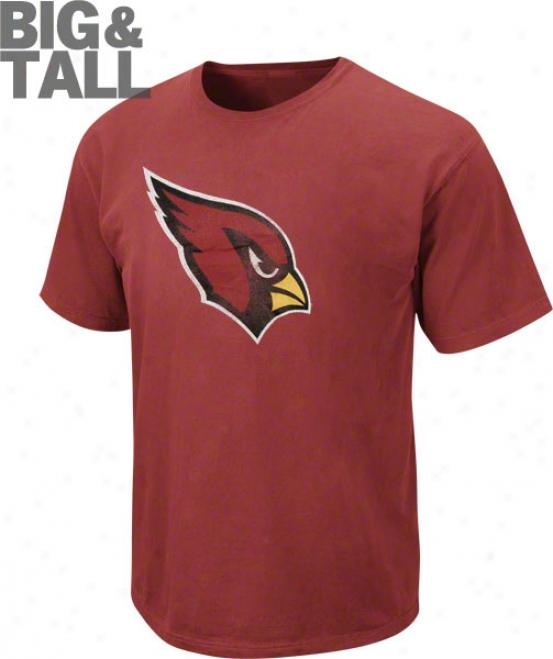 Arizona Cardinals Big & Tall Pigment Dye T-shirt