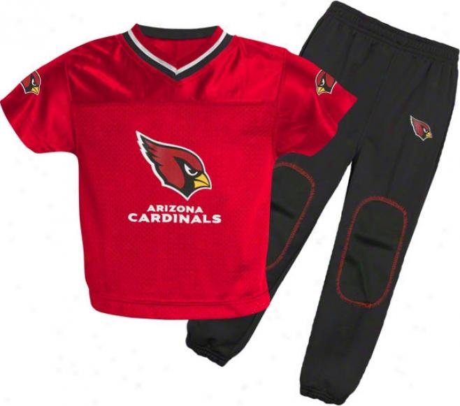 Arizona Cardinals Babe Football Jersey And Pant Set