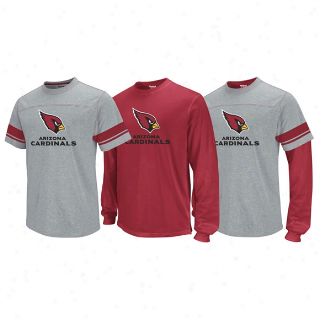 Arizona Cardinals Kid's 4-7 Option 3-in-1 T-shirt Combo Pack