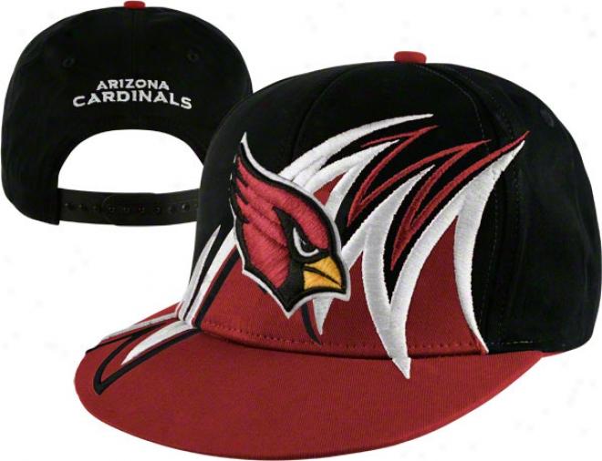 Arizona Cardinals Nfl Slash Snapback Hat