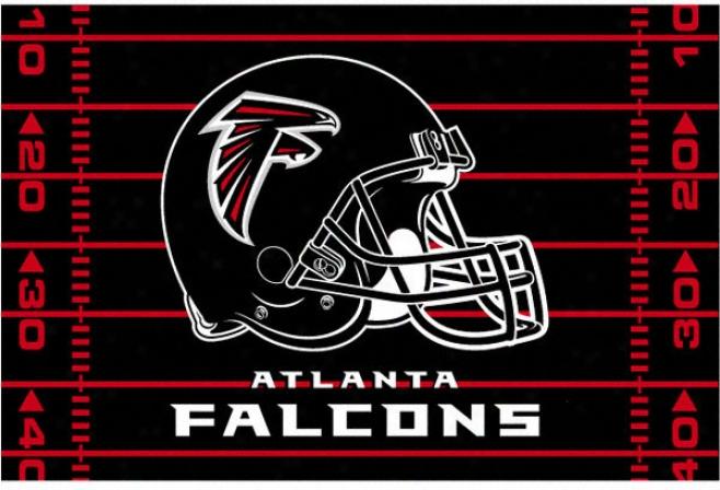 Atlanta Falcons 39x59 Acrylic Tufted Rug