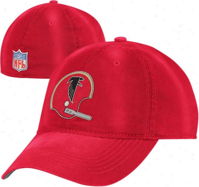 Atlanta Falcons Throwback Hat: Vintage Sandblasted Slouch Flex Hat