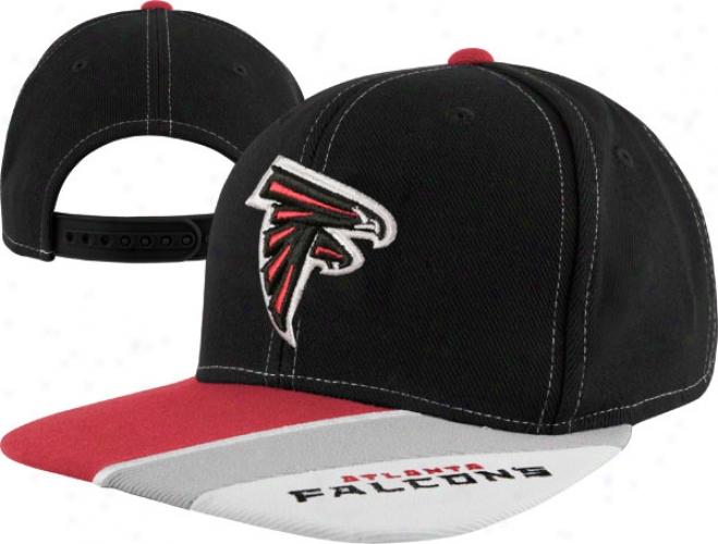 Atlanta Falcons Youth Bkack Reebok Nfl Retro Snapback Cap