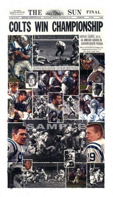 Baltimore Colts - &quotcolts 1958&quot - Wall - Unframed Giclee