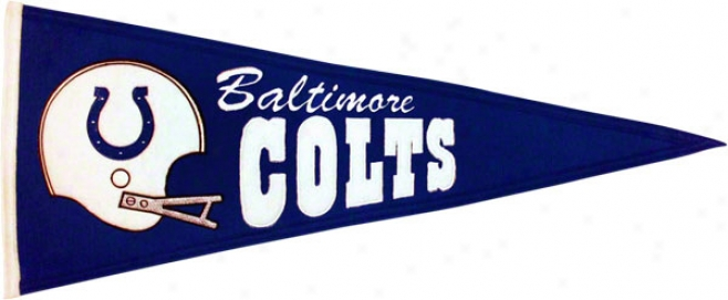Baltimore Colts Throwback Pennant