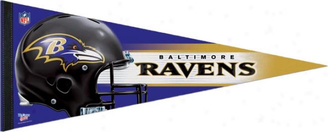Baltimore Ravens 12x30 Premium Pennant
