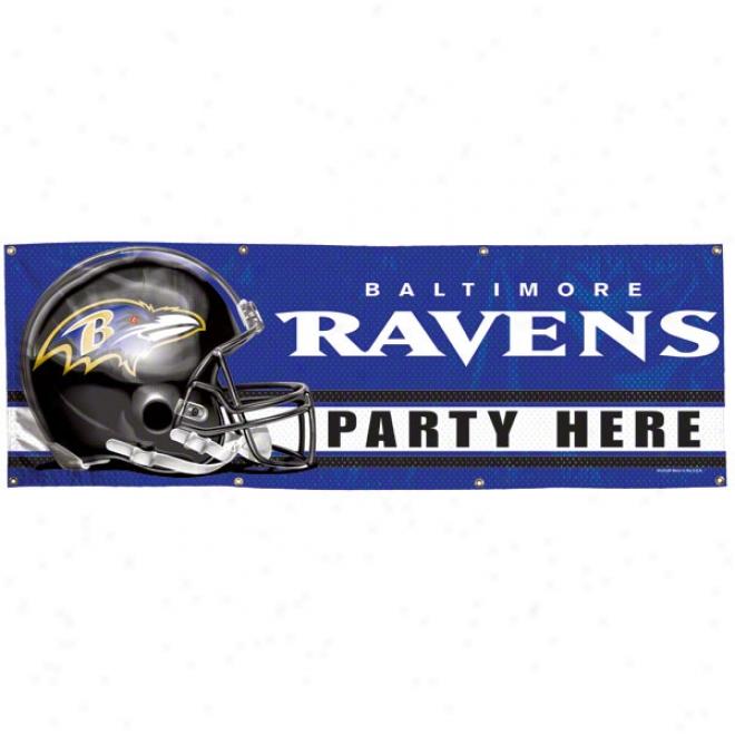 Baltijore Ravens 2x6 Vinyl Banner