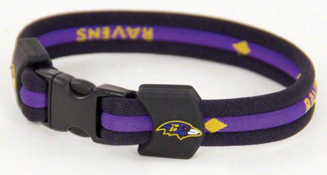 Baltomore Ravens 7&quot Titanium Bracelet