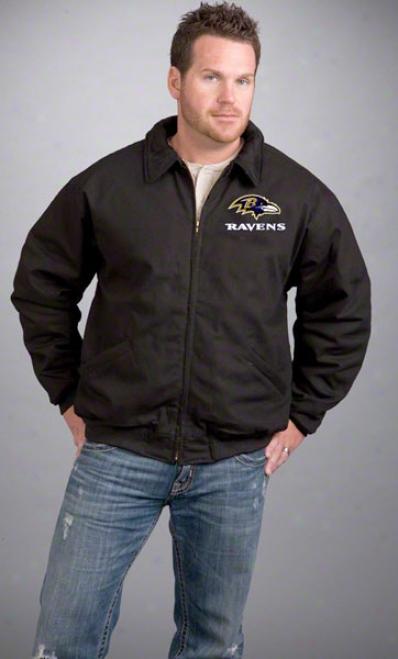 Baltimore Ravens Jacket: Black Reebok Saginaw Jacket