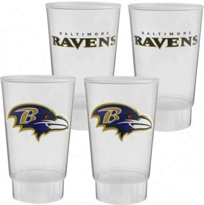 Baltimore Ravens Plastic Tumbler 4-pack