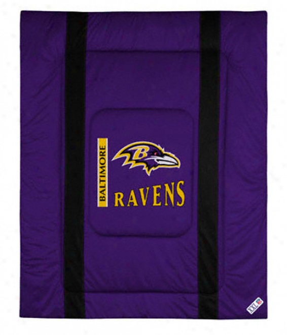 Baltimore Ravens Siseline Comforter - Full/queen Bed