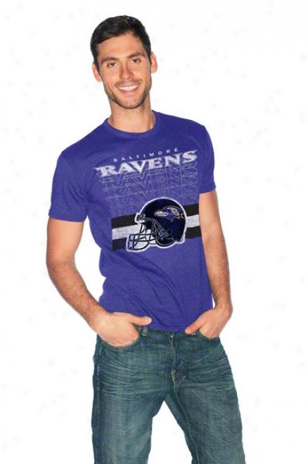 Baltimore Ravems Sinle Coverage Tri-blend T-shirt