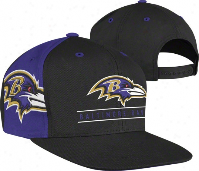 Baltimore Ravens The Bar Snapback Adjustable Hat