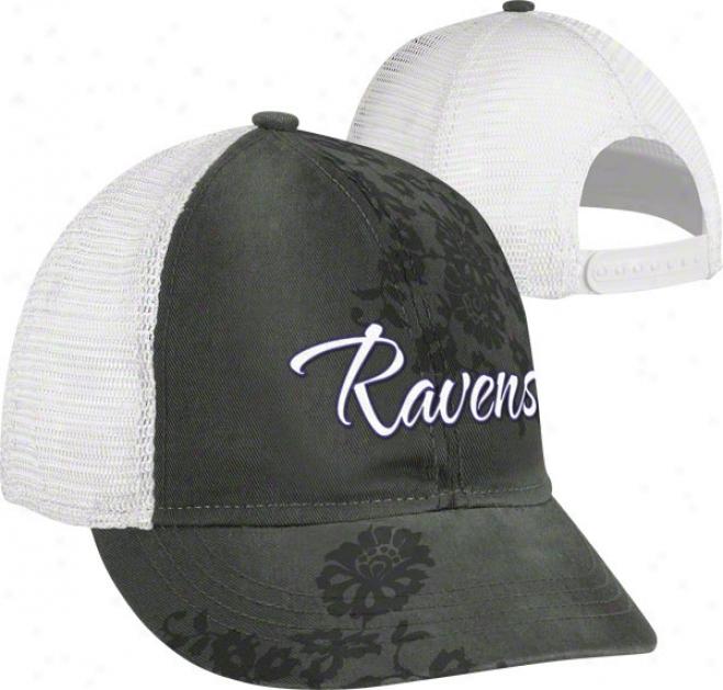 Baltimore Ravens Women's Hat: Short Brim Adjustable Hat