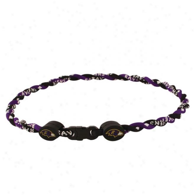 Baltimore Ravens Youth Twist Titanium Necklace