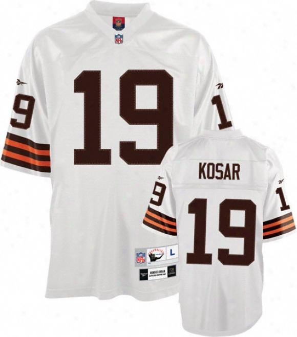 Bernie Kosar Cleveland Browns White Nfl Premier 1987 Throwbqck Jersey