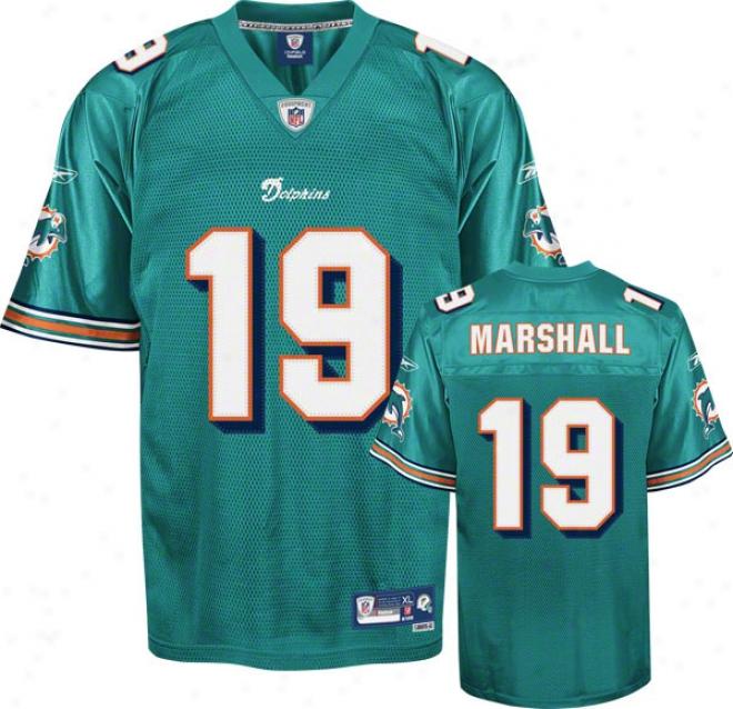 Brandon Marshall Aqua Reebok Nfl Premier Miami Dolphins Jersey